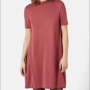 Topshop Size 6 A-line Swing Sweater Dress